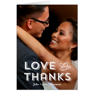 Trendy Typography Wedding   Thank You Note Cards