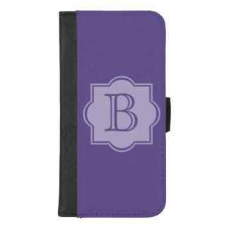 Trendy Ultra Violet Simple Logo Purple Monogram iPhone 8/7 Plus Wallet Case