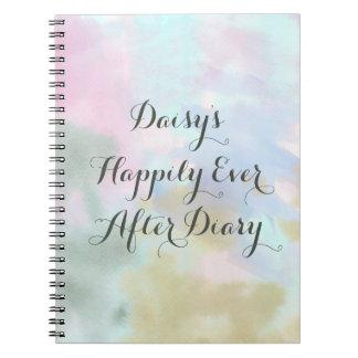 Trendy Unicorn Watercolor Custom Diary Journal