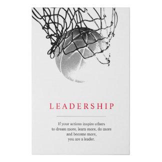 Trendy Unique Motivational Basketball Leadership Faux Canvas Print