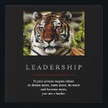 "Trendy Unique Motivational Leadership Tiger Faux Canvas Print<br><div class=""desc"">Tiger Digital Artwork - Tiger Head Computer Animal Art - College Pop Art - Wild Big Cats Computer Images</div>"