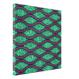 Trendy Unique Swirly Wavy Abstract Pattern Canvas Print