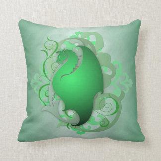 Trendy Urban Fantasy Green Dragon Pillow