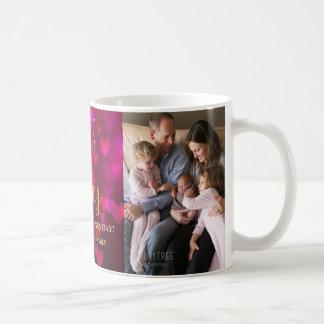 Trendy Valentine's Day Bokeh Hearts Photo Coffee Mug