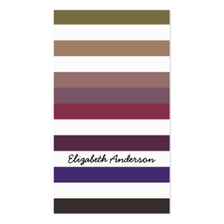 Trendy Variegated Purple and White Stripes Pattern Double-Sided Standard Business Cards (Pack Of 100)