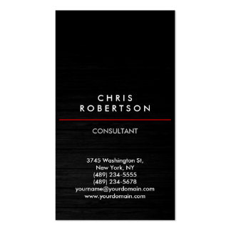 Trendy Vertical Grey Wood Pattern Business Card