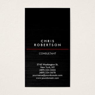 Trendy Vertical Grey Wood Pattern Business Card