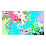 Trendy Vibrant Teal Pink Watercolor Splatters Business Card Templates