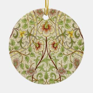Trendy Vintage Decorator Floral Wallpaper Daffodil Ceramic Ornament