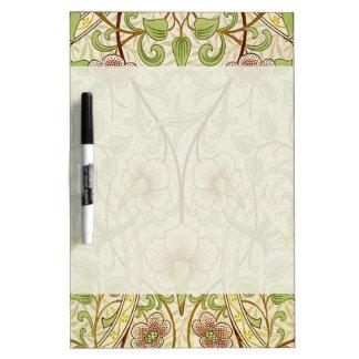 Trendy Vintage Decorator Floral Wallpaper Daffodil Dry-Erase Whiteboard