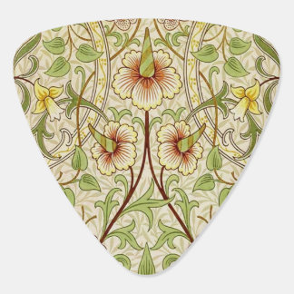 Trendy Vintage Decorator Floral Wallpaper Daffodil Guitar Pick