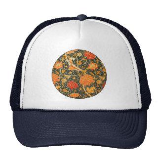 Trendy Vintage Designer Floral Wallpaper Pattern Trucker Hat