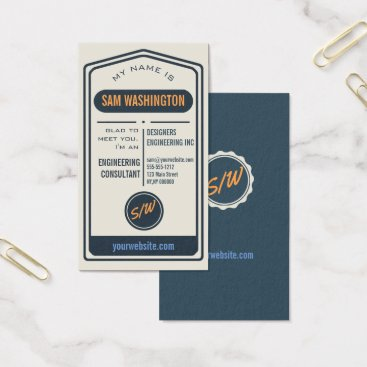 Professional Business Trendy Vintage Typography Custom Template Business Business Card
