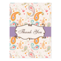 trendy  violet,purple ThankYou Cards