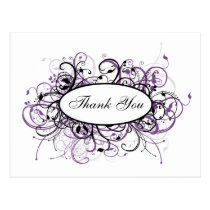 trendy violet ThankYou Cards