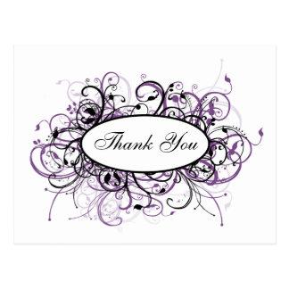 trendy violet ThankYou Cards