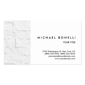 Trendy Wall Brick White Professional Business Card