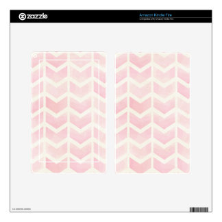 trendy,water colour,pink,chevron,zig zag,trendy, kindle fire decal