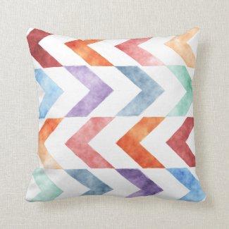 Trendy Watercolor Arrow Pillow