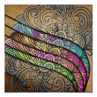 Trendy Watercolor Floral Print Art Photo