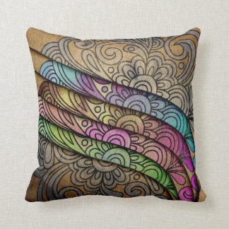 Trendy Watercolor Floral Print Throw Pillow