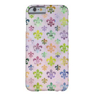 Trendy Watercolor Painting Fleur De Lis Pattern Barely There iPhone 6 Case