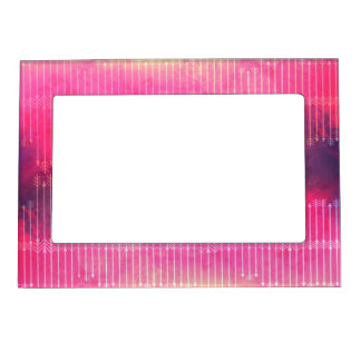 Trendy Watercolor Pink Vintage Arrow Pattern Magnetic Picture Frame