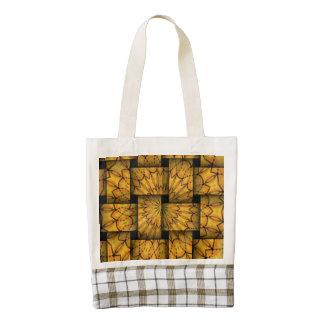 Trendy weaves pattern zazzle HEART tote bag