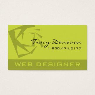 "Trendy Web Designer ""Quartz"" template acid olive Business Card"