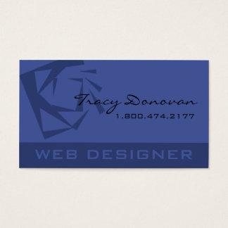 "Trendy Web Designer ""Quartz"" template   periwinkle Business Card"