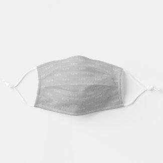 Trendy WEDDING Silver Hearts Monogram Groomsmen Cloth Face Mask