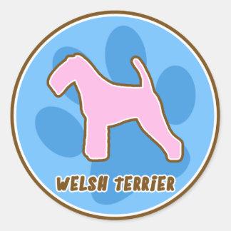 Trendy Welsh Terrier Stickers
