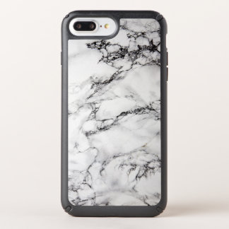 Trendy White And Black Marble Stone Texture Speck iPhone Case