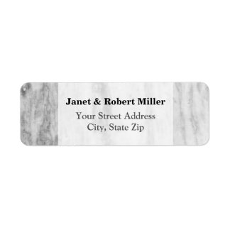 Trendy White And Gray Marble Texture Pattern Label