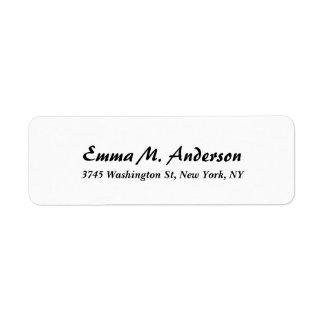 Trendy White Classical Professional Elegant Script Label