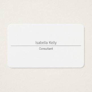 Trendy White Creative Professional Stylish Business Card
