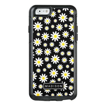 Beach Themed Trendy White Daisy Watercolor Floral Pattern OtterBox iPhone 6/6s Case