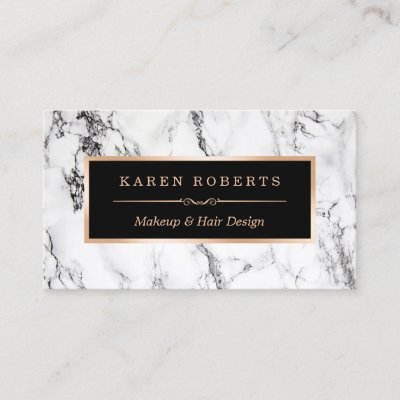 Trendy marble rose gold 3d lips makeup artist business card zazzle colourmoves
