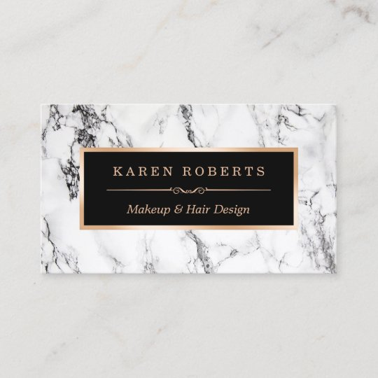 Trendy white marble makeup artist hair salon business card zazzle trendy white marble makeup artist hair salon business card colourmoves