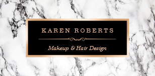 Hair stylist business card holders cases zazzle trendy white marble makeup artist hair stylist desk business card holder colourmoves Images
