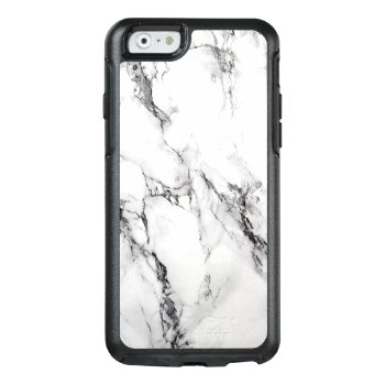 Trendy White Marble Stone Otterbox Iphone 6/6s Case by gogaonzazzle at Zazzle