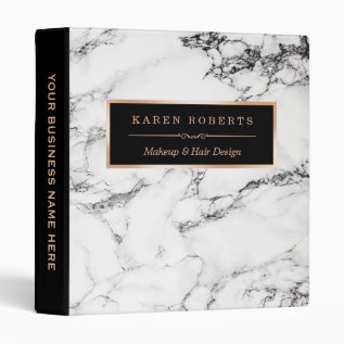 Trendy White Marble Stone Texture Modern Design Binder at Zazzle