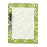 Trendy White Swirl pattern On Green Dry-Erase Boards