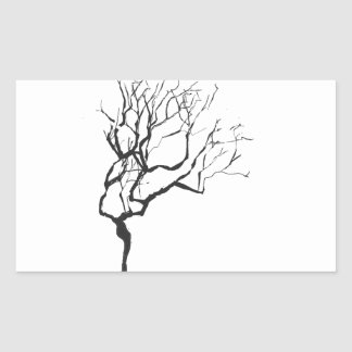 Trendy Wintery Nature Tree Rectangular Sticker