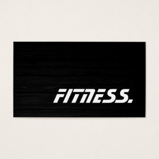 Trendy Wood Trainer Sport Fitness Business Card