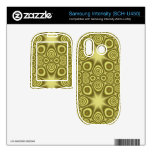 Trendy Yellow abstract pattern Samsung Intensity II Skin