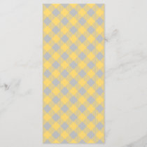 Trendy Yellow and Gray Check Gingham Pattern