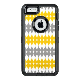 Trendy Yellow And Gray Tear Drop Pattern