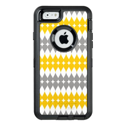 Trendy Yellow And Gray Tear Drop Pattern OtterBox iPhone 6/6s Case