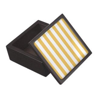 Trendy Yellow and White Wide Horizontal Stripes Gift Box